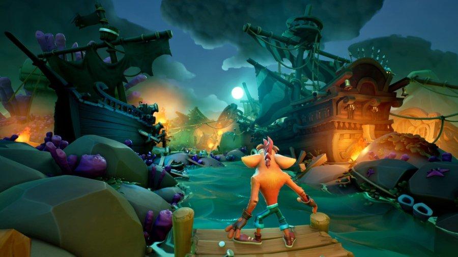 Escenario del nuevo Crash Bandicoot 4 a estrenarse en octubre