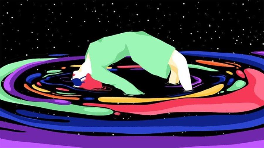 Imagen de mujer levitando