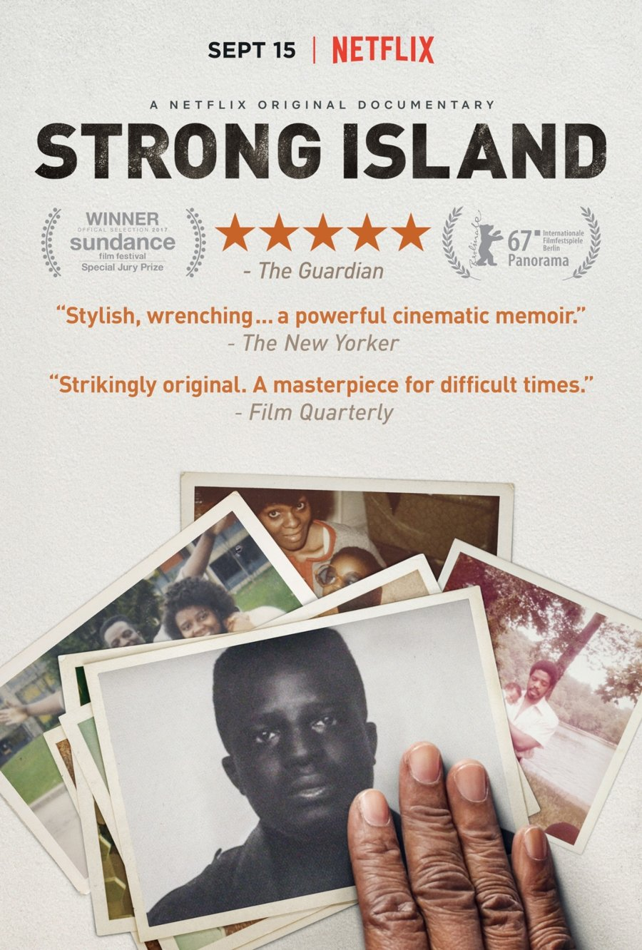 "Portada del documental ""Strong Island"""
