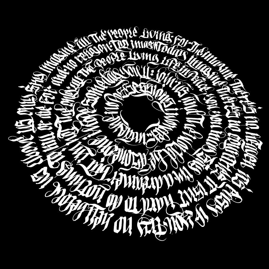 Oráculo hecho de caligrafía