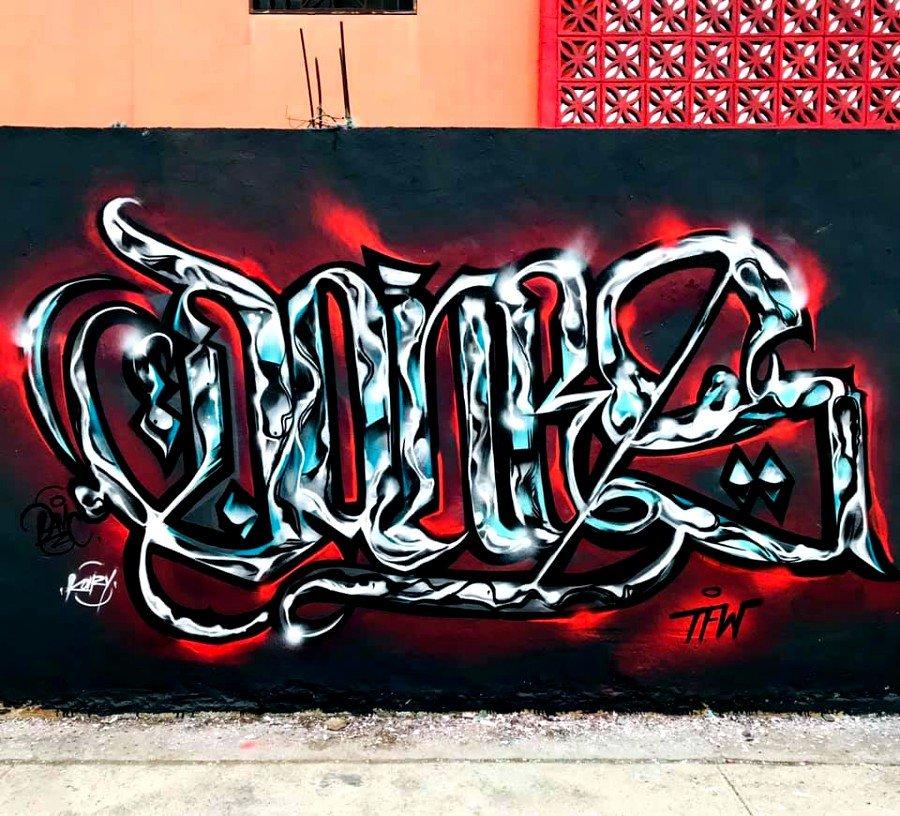 Bomba en caligrafía por Dones Mendoza