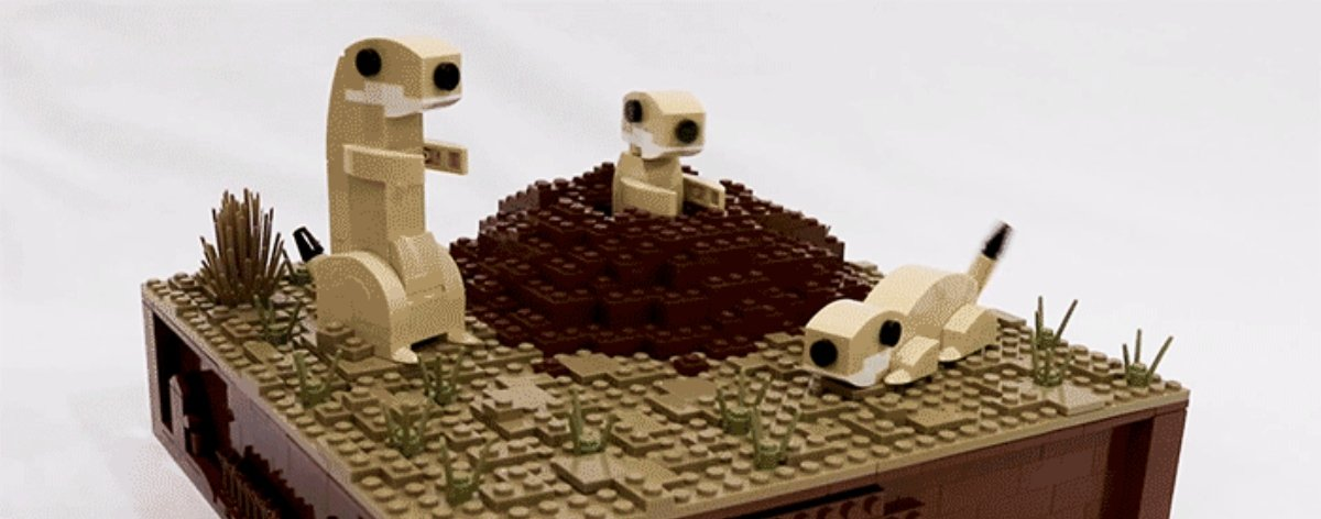 Esculturas de perritos con LEGO de JK Brickworks