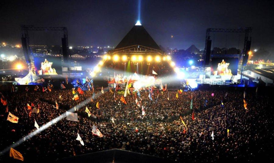 Escenario de Piramide en Glastonbury