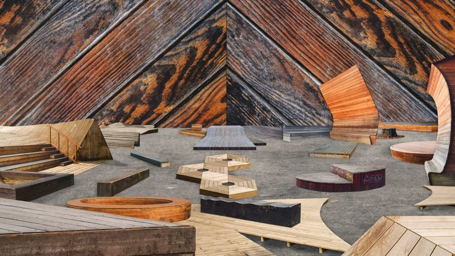 Spot de madera para el proyecto GRRRND Zero