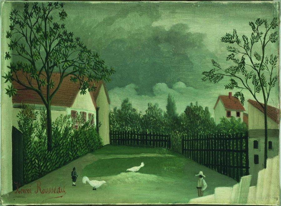 """""""La basse-cour"""", óleo sobre lienzo, 1898, Museo Georges Pompidou, París."""