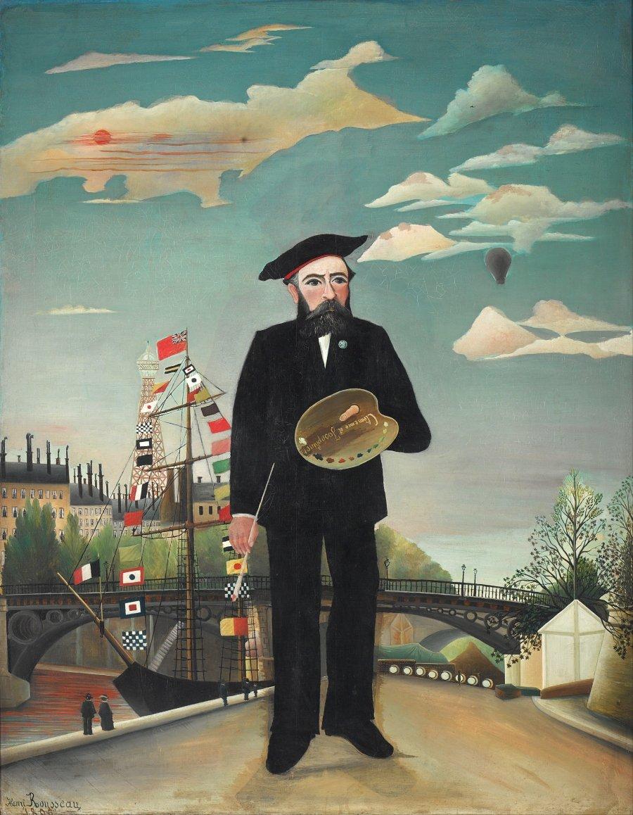 """""""Yo mismo"""", óleo sobre lienzo, 1890, Galería Nacional de Praga por Henri Rosseau"""