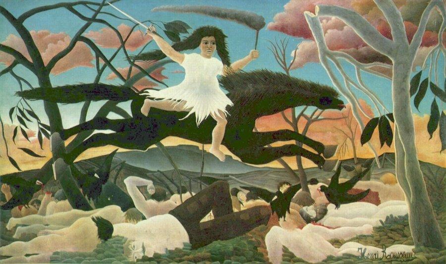 """La guerra"" por Henri Rousseau, óleo sobre lienzo, 1894, Museo de Orsay, París."