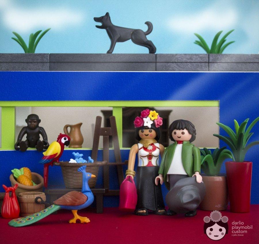 Historia de México versión Playmóbil/ Frida y Diego