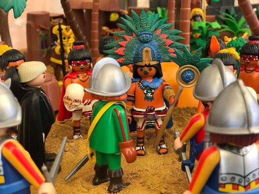 Historia de México versión Playmóbil/ LLegada de Hernán Cortés