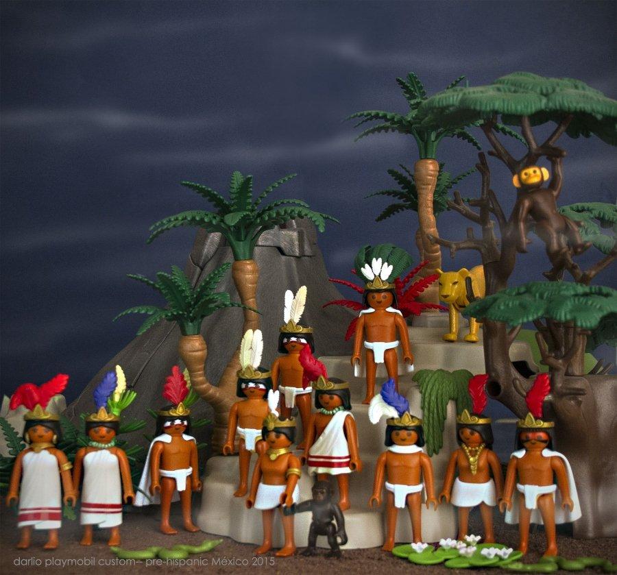 Historia de México versión Playmóbil Habitantes de la indias
