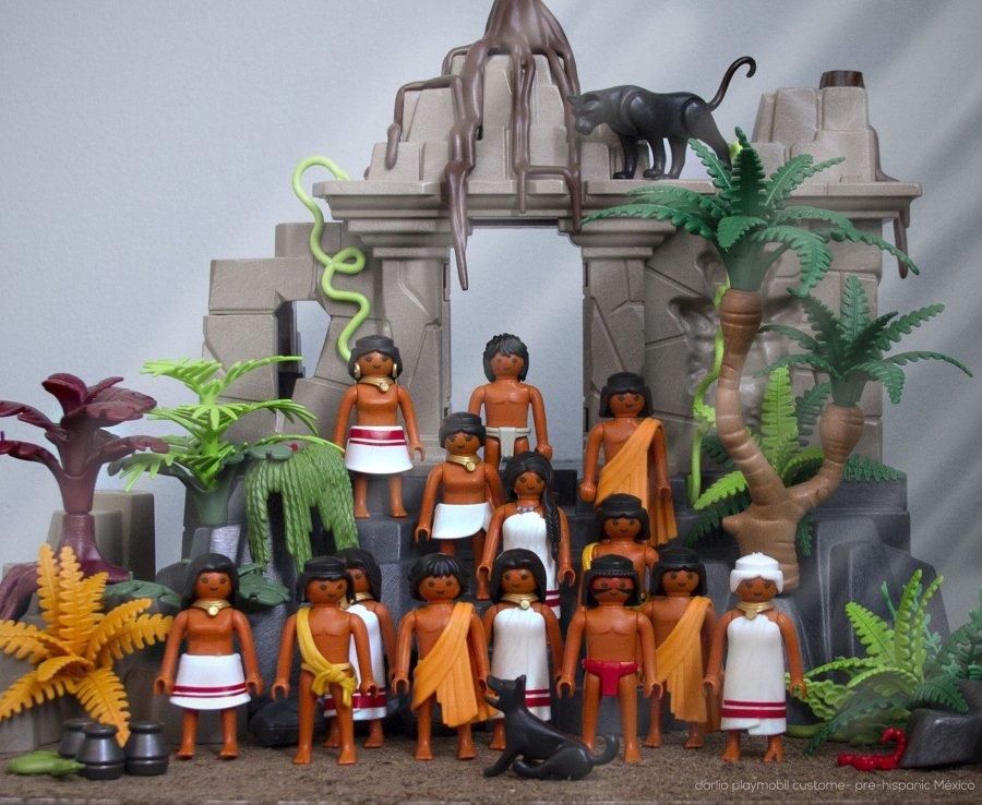 Historia de México versión Playmóbil Habitantes de las indias