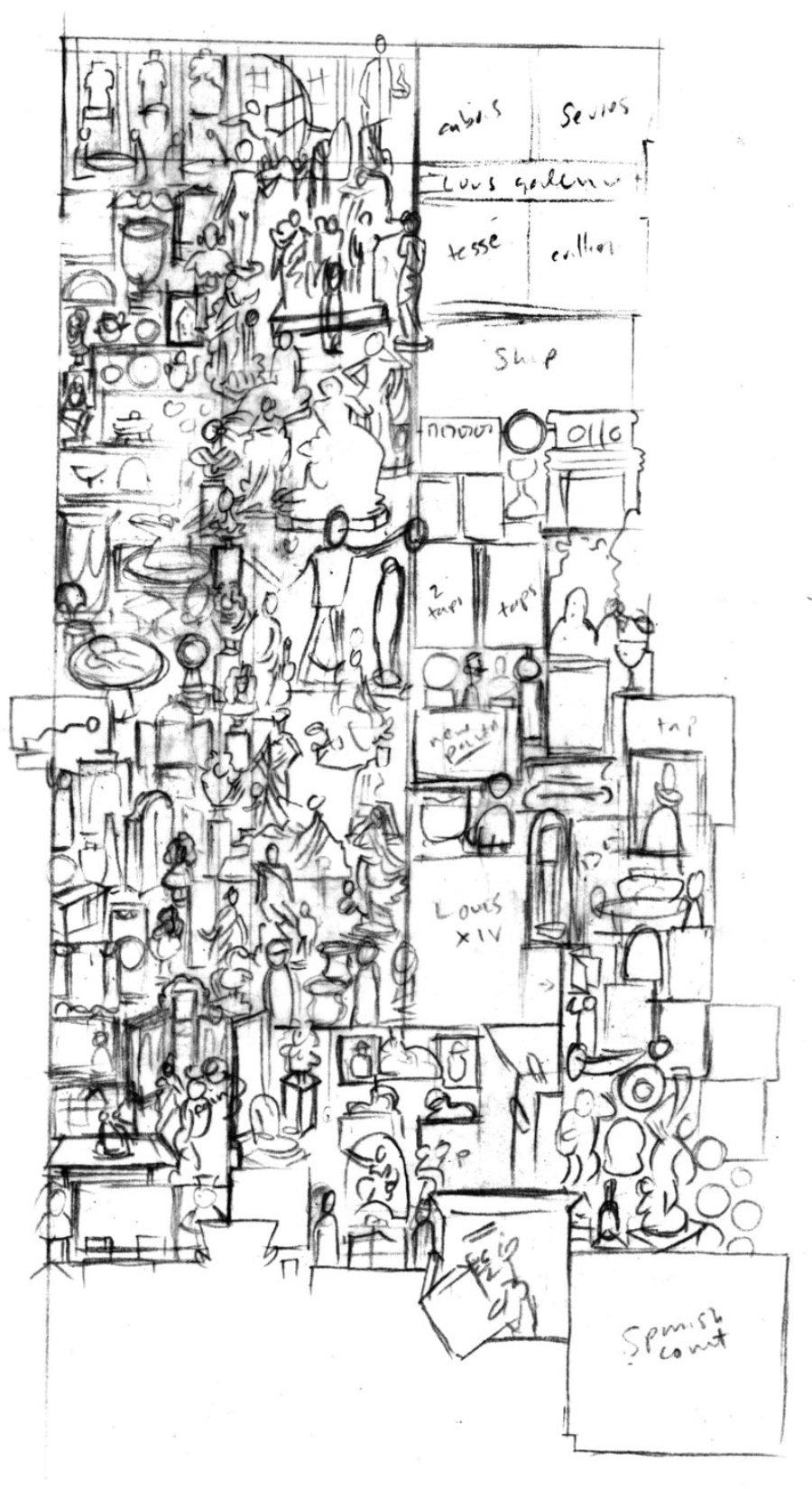 Boceto de John Kerschbaum del MET