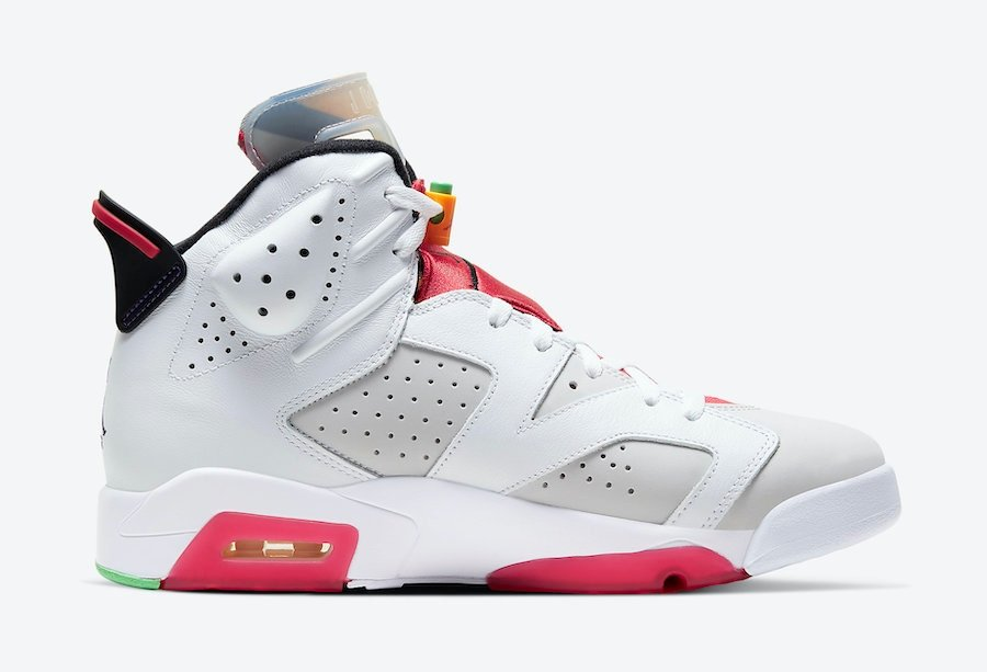 apariencia lateral de las nuevas zapatillas Jordan 6 Hare