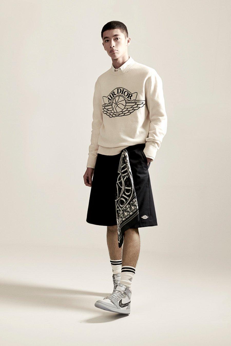 Nuevo sueter y short colaborativo entre Jordan y Dior