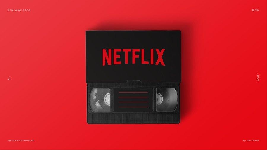 Netflix reimaginado en un VHS por Luli Kibudi