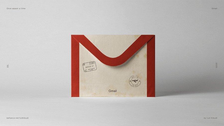 Gmail re imaginado por carta de correo por Luli Kibudi