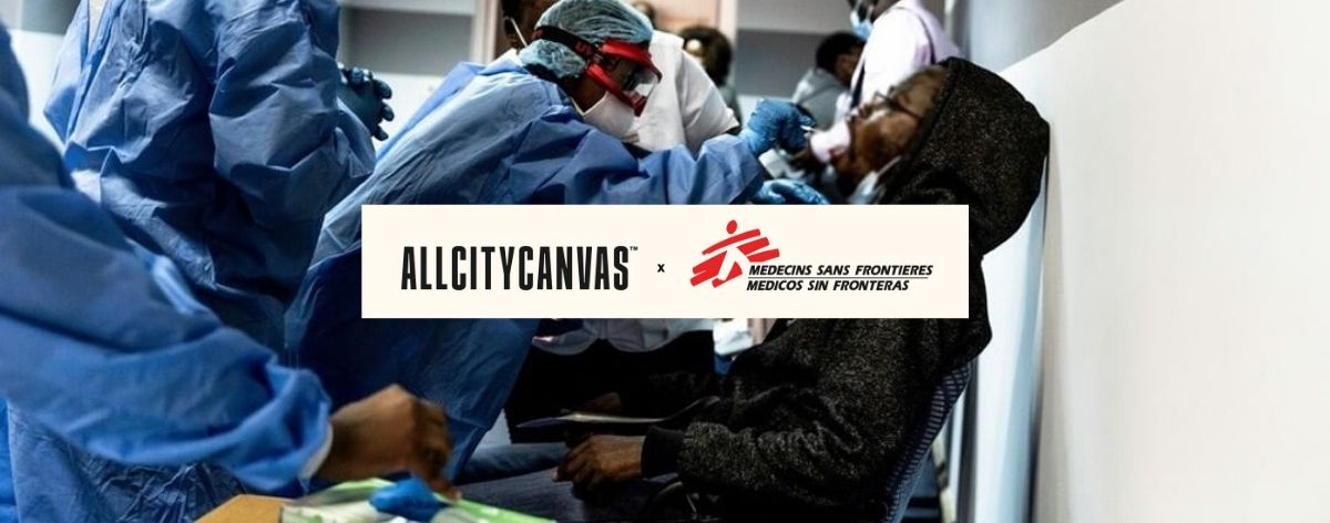 All City Canvas and Doctors Without Borders unite for a campaign against COVID-19