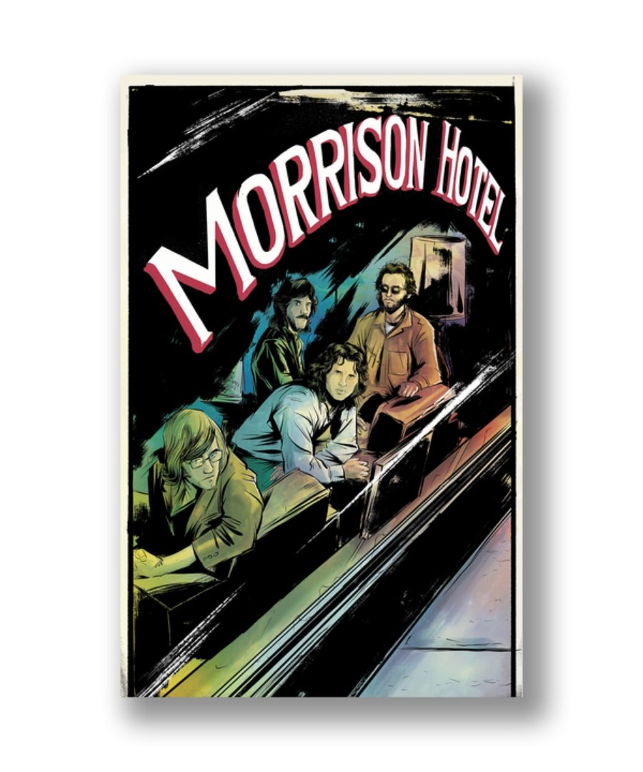 Portada del cómic de The Doors, Morrison hotel