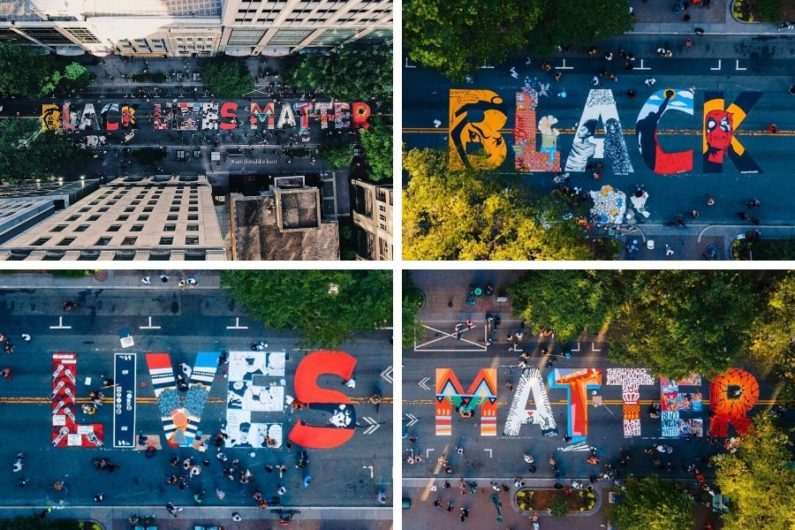 Mural de Black Lives Matter en Charlotte
