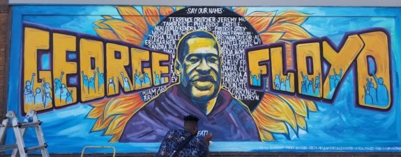 Murals pay tribute to George Floyd