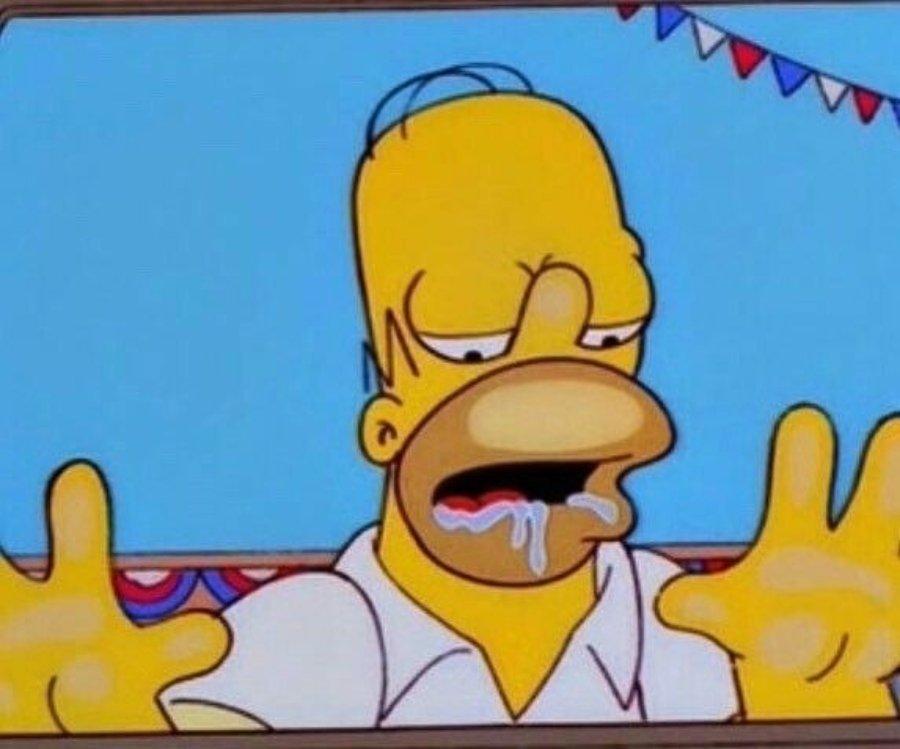 Homero Simpson babeando