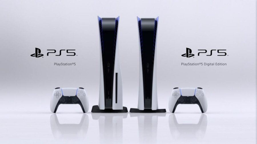 apariencia de la consola digital y de disco de PlayStation 5