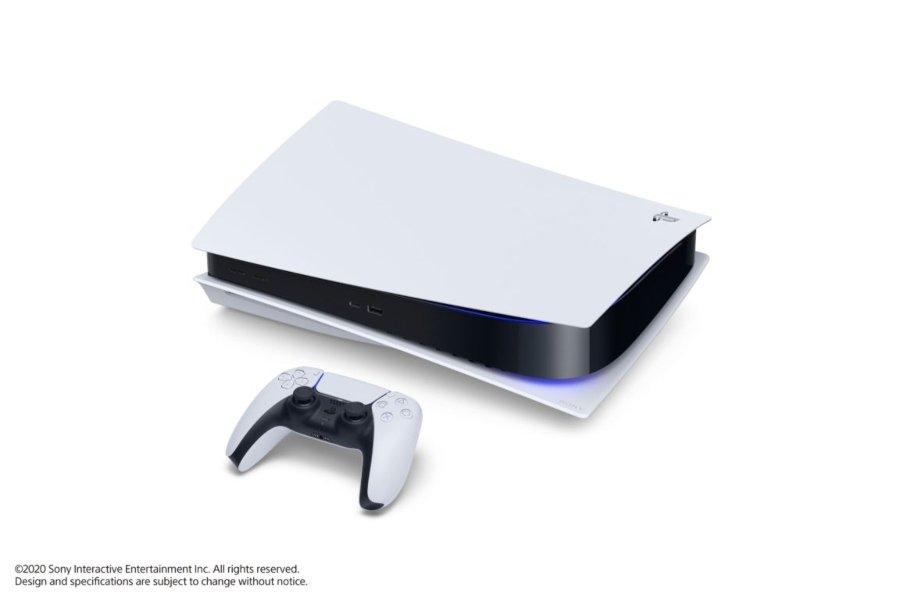 apariencia física de la nueva consola PlayStation 5 de Sony