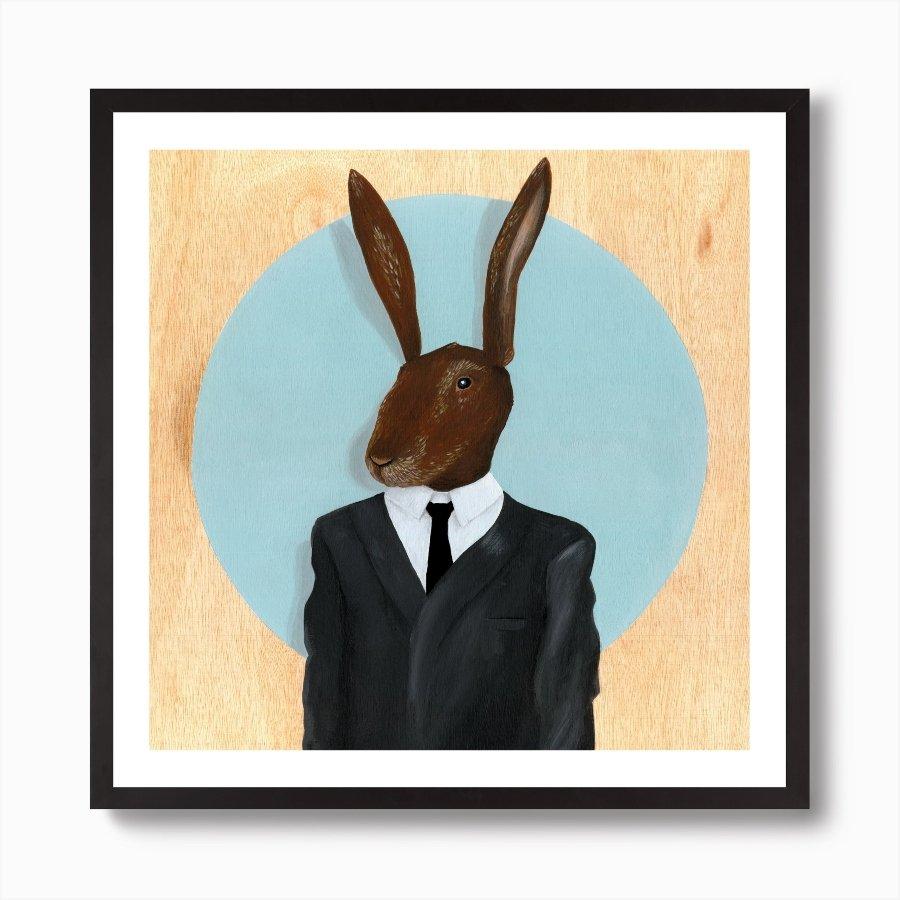 Retrato de conejo protagonista de la serie de David Lynch