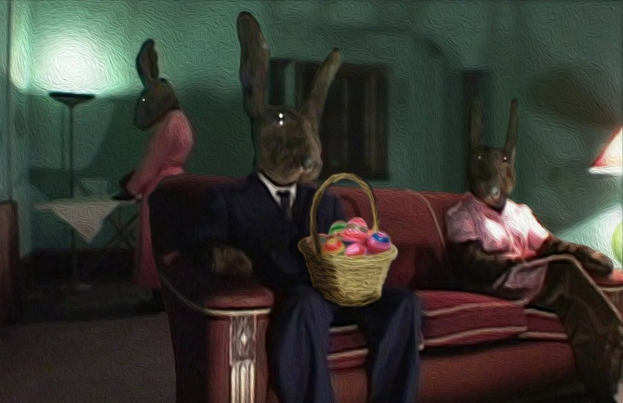 "Escena de la serie de David Lynch ""Rabbits"""