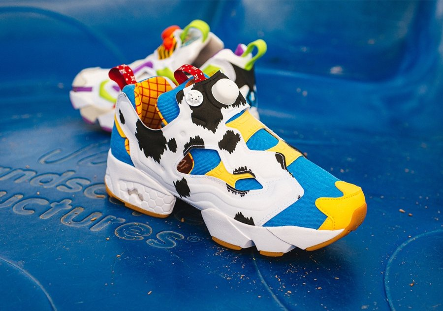 Instapump Fury model alluding to Woody and Buzz Lightyear