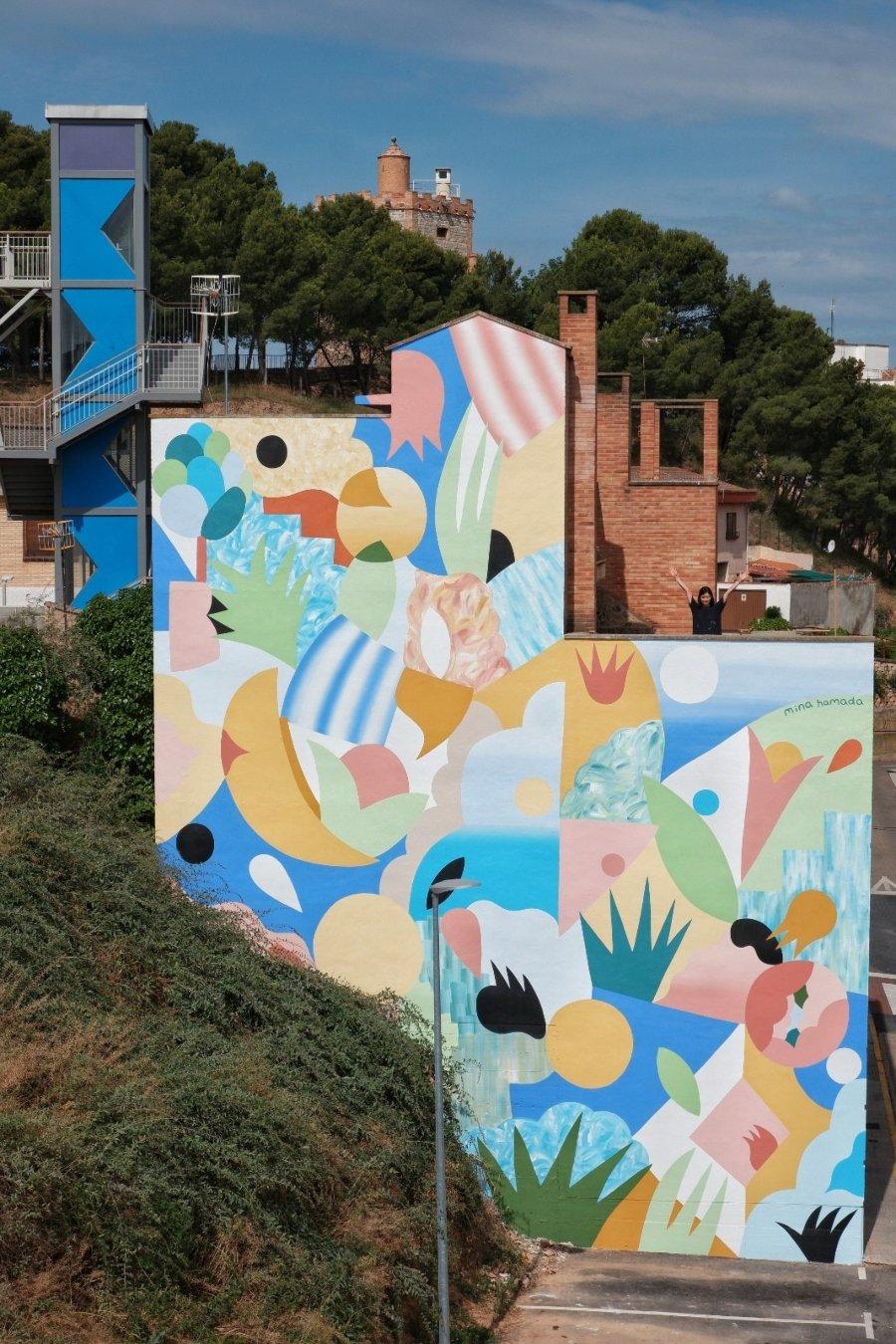 Review del mural de Mina Hamada para Avant Garde Tudela 2020