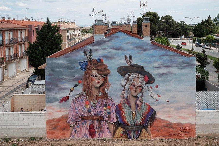 """Review del mural de Miss Van """"Las gitanas"""""""