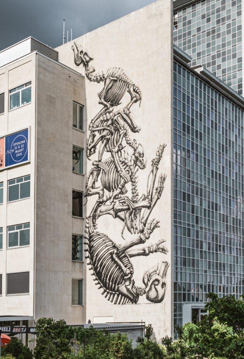 New ROA mural at Ghent University Museum