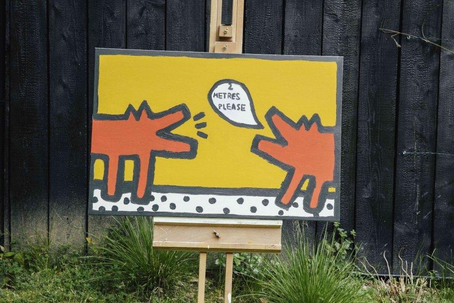 Pintura de Rollo Jensen que reinterpreta obras clásicas para recaudar fondos