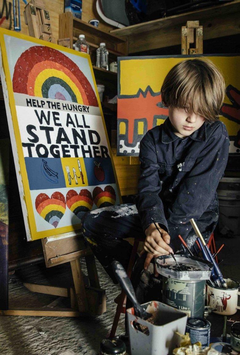 Rollo Jensen reinventa arte de Banksy y Haring para ayudar