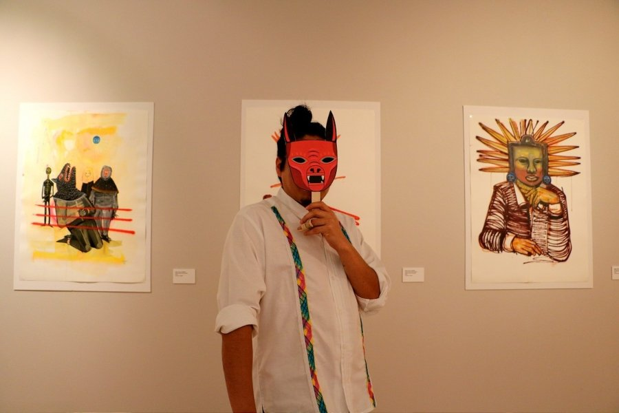 Saner takes up the motif of the masks as evidence of Mexican traditions