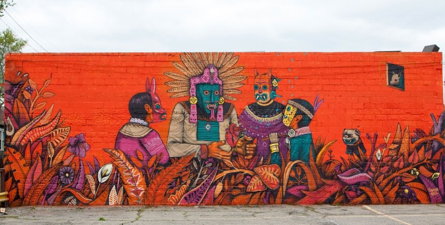 The artist captures Mexican cosmogony in all his murals