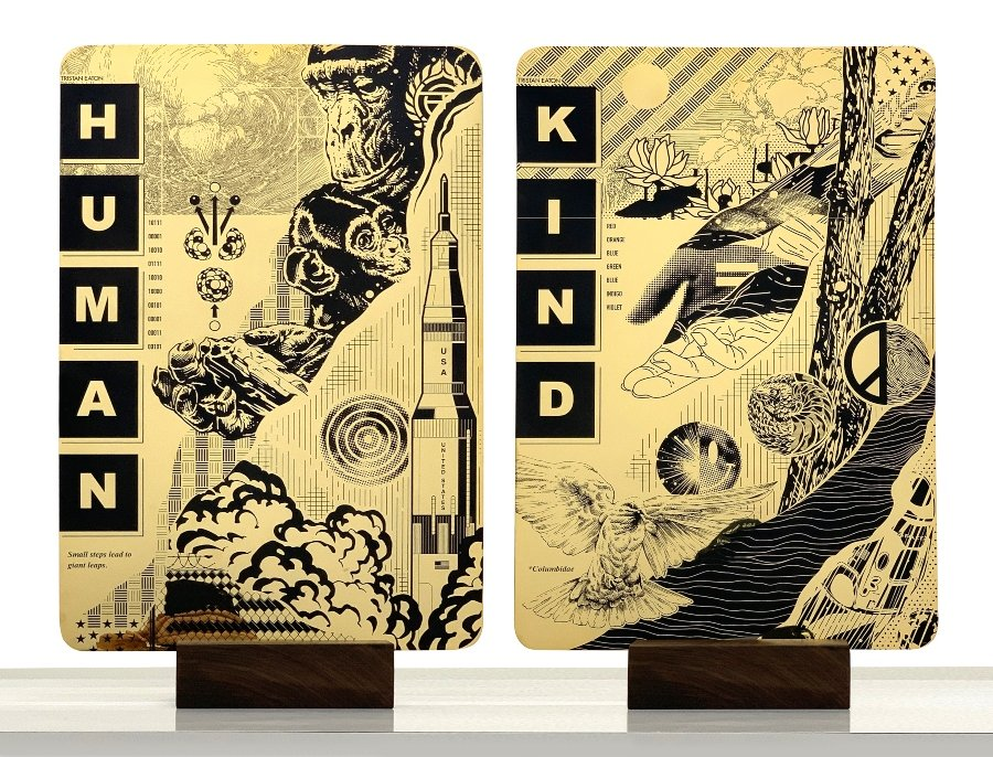 Human and Kind pieces by Tristan Eaton