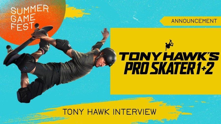 Anuncio de entrevista con Tony Hawk dentro del Summer Game Fest 2020