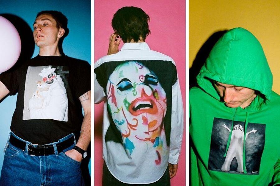 Modelos usando las prendas de la colección que rinde tributo al artista del performance
