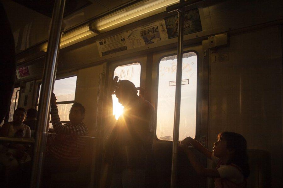 Vista del metro de la CDMX, parte de Tiempos Muertos de sonia Madrigal