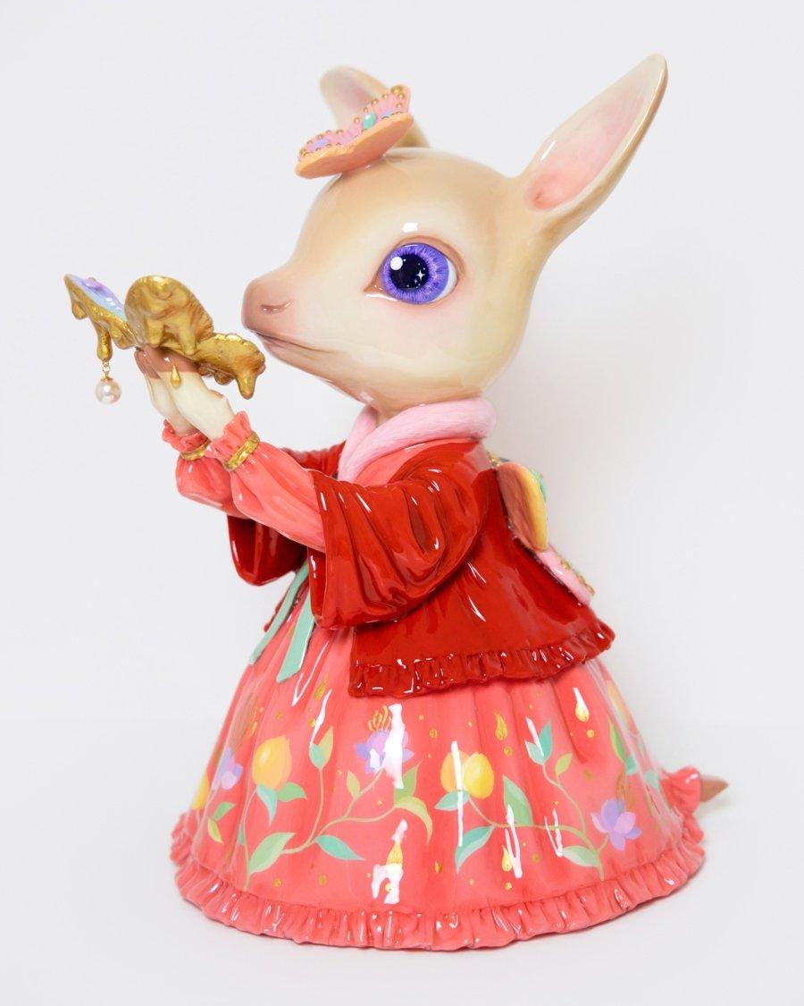 Pequeño animalito, parte de las esculturas fantásticas de Tina Yu
