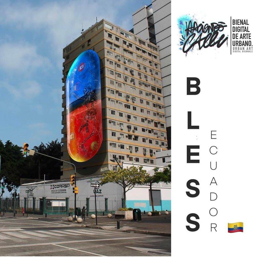 Arte de Bless para la Bienal de Arte Urbano Digital