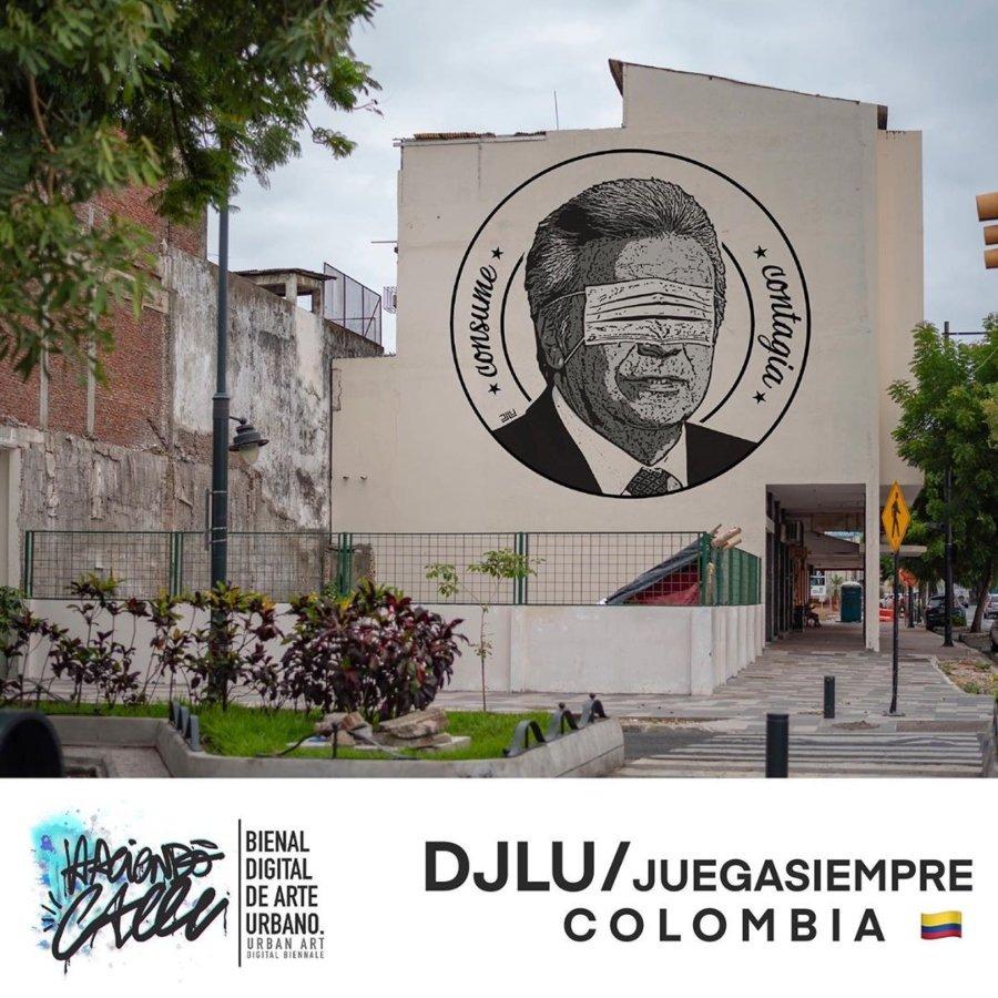 Arte de DJLU juega Siemprepara la Bienal de Arte Urbano Digital