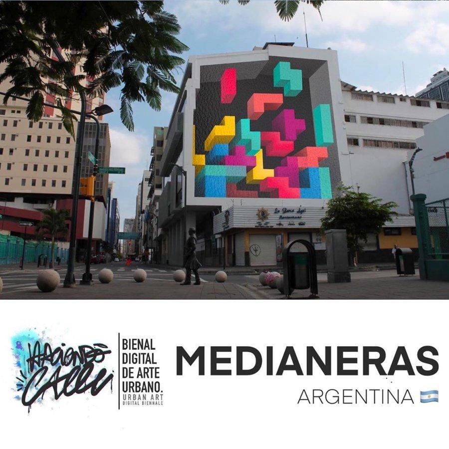 Arte de Medianeras para la Bienal de Arte Urbano Digital