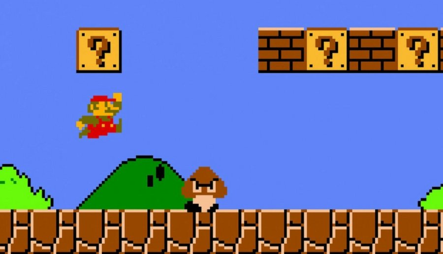 Aspecto interno de ljuego de Super Mario Bros de 1985