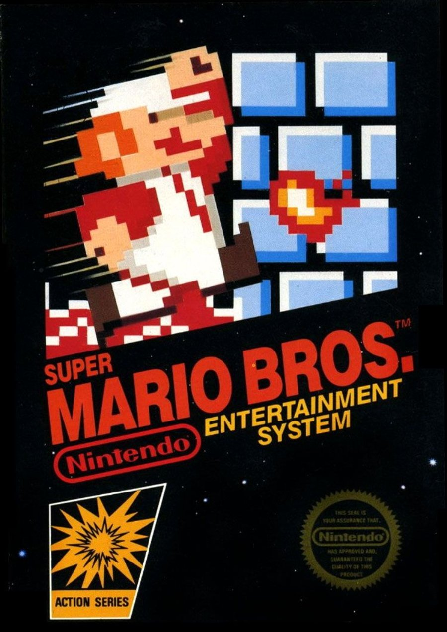 Portada original de Super Mario Bros
