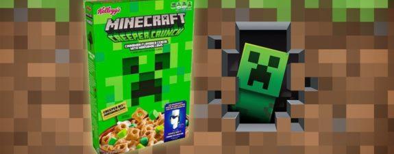 Cereal de Minecraft para un desayuno gamer