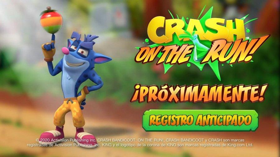 Aspecto del nuevo juego Crash Bandicoot On the Run para celulares