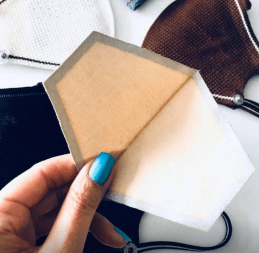 Filtro a usarse dentro del cubrebocas de café de Shoex